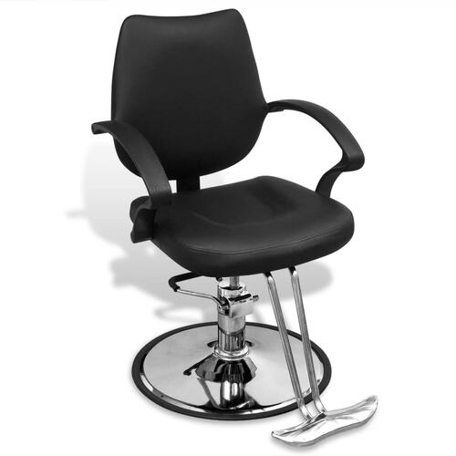Professional Barber Chair Artificial Leather Black