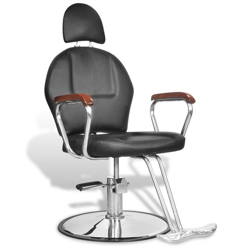 Professional Barber Chair with Headrest Artificial Leather Black