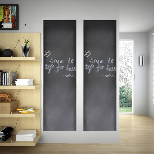 Wall Sticker Blackboard 0.6 x 3 m 2 Rolls with Chalks