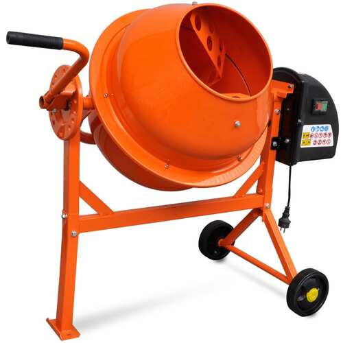 Electric Concrete Mixer 63 L 220 W Steel Orange