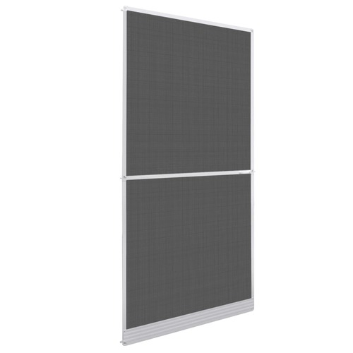 White Hinged Insect Screen for Doors 100 x 215 cm