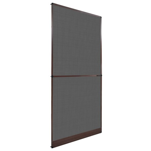 Brown Hinged Insect Screen for Doors 100 x 215 cm