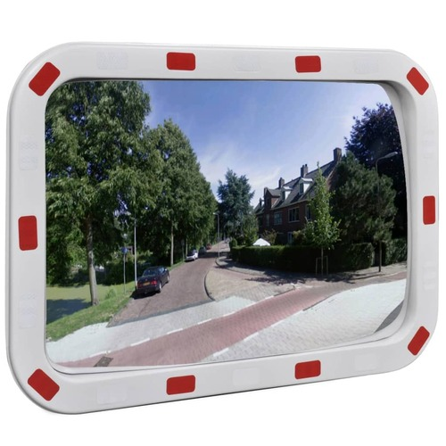 Convex Traffic Mirror Rectangle 40 x 60 cm with Reflectors