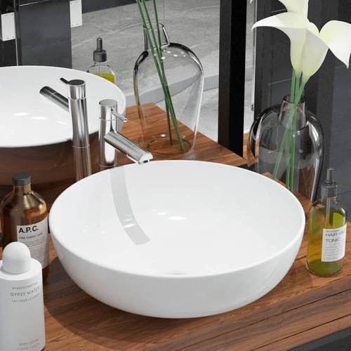 Basin Round Ceramic White 41.5x13.5 cm