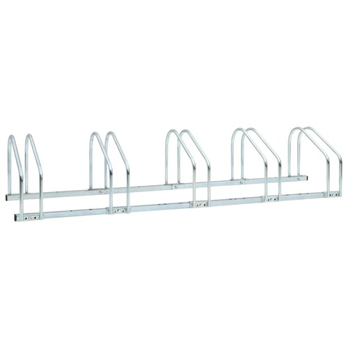 5-Bike Parking Floor Rack 136x33x27 cm Steel