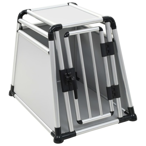 Dog Transport Box Aluminium M