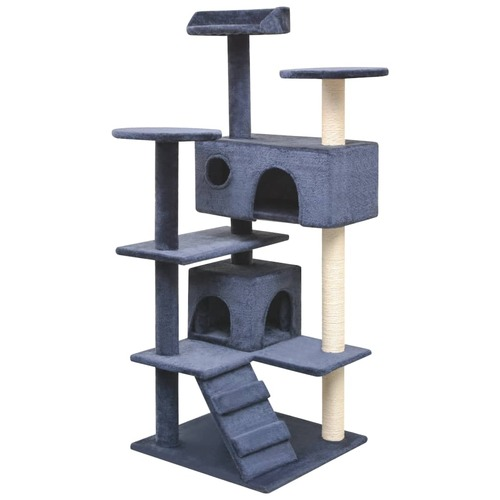 Cat Tree with Sisal Scratching Posts 125 cm Dark Blue