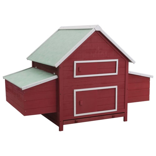 Chicken Coop Red 157x97x110 cm Wood