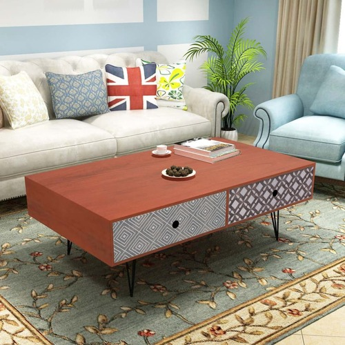 Coffee Table 100x60x35 cm Brown