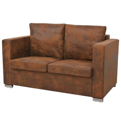 2-Seater Sofa 137x73x82 cm Artificial Suede Leather