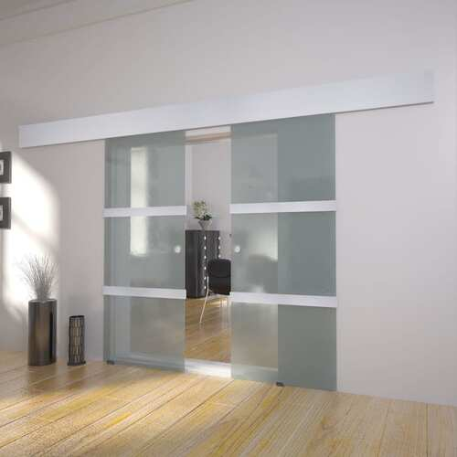 Double Sliding Door Glass