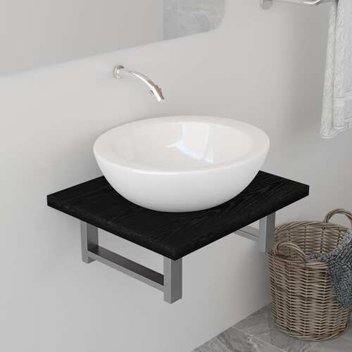 Bathroom Furniture Black 40x40x16.3 cm