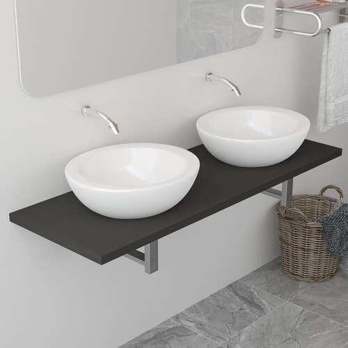 Bathroom Furniture Grey 120x40x16.3 cm