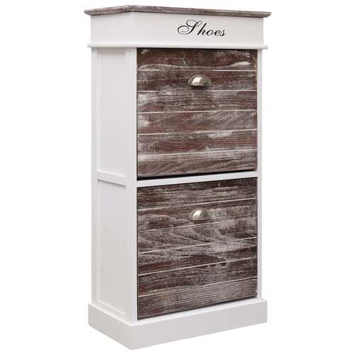 Shoe Cabinet Brown 50x28x98 cm Paulownia Wood