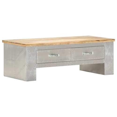 Aviator Coffee Table 100x50x36 cm Solid Mango Wood