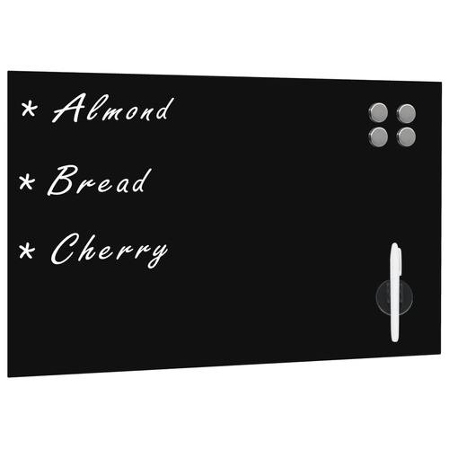 Wall Mounted Magnetic Blackboard Glass 60x40 cm