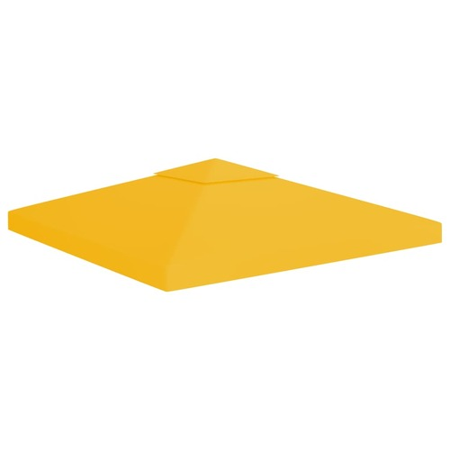 2-Tier Gazebo Top Cover 310 g/m² 3x3 m Yellow