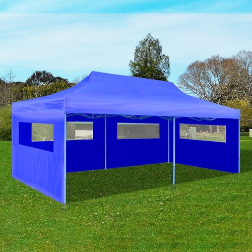 Blue Foldable Pop-up Party Tent 3 x 6 m