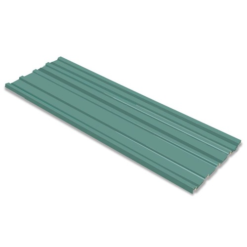 Roof Panels 12 pcs Galvanised Steel Green