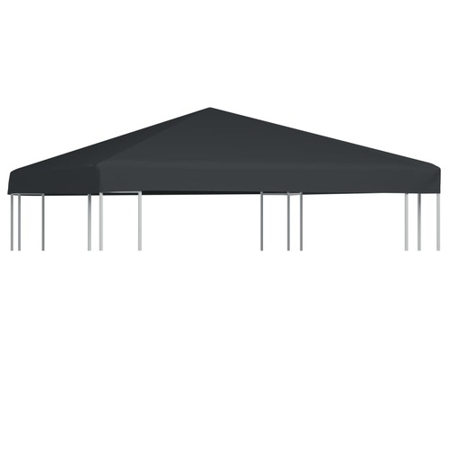 Gazebo Top Cover 310 g/m² 3x3 m Grey