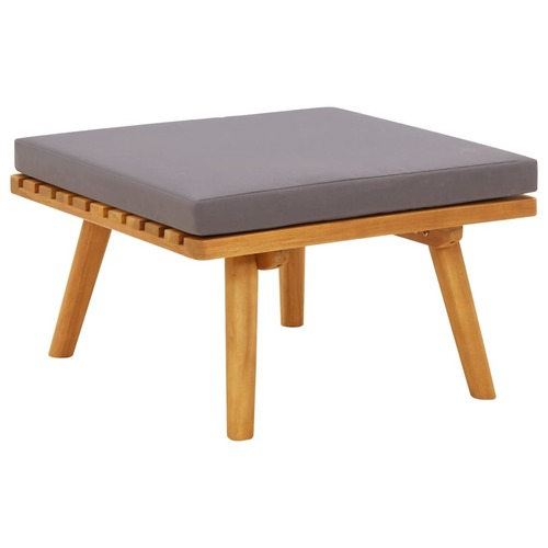 Garden Footstool with Cushion 60x60x29 cm Solid Acacia Wood