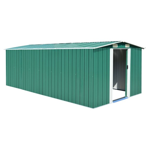 Garden Shed 257x489x181 cm Metal Green (AU only)
