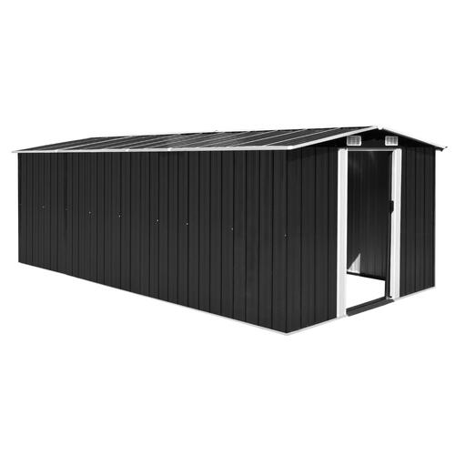 Garden Shed 257x489x181 cm Metal Anthracite (AU only)
