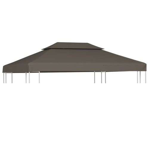 2-Tier Gazebo Top Cover 310 g/m? 4x3 m Taupe