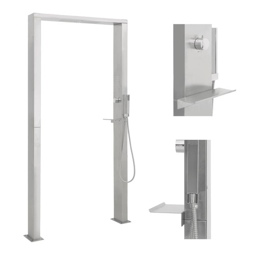 Outdoor Shower Stainless Steel Double Jets