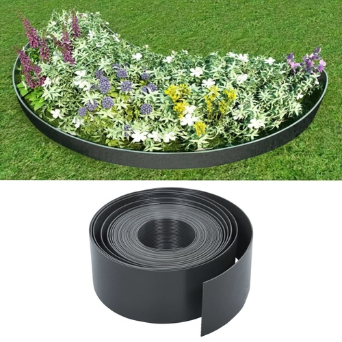 Garden Edging Grey 10 m 10 cm PE