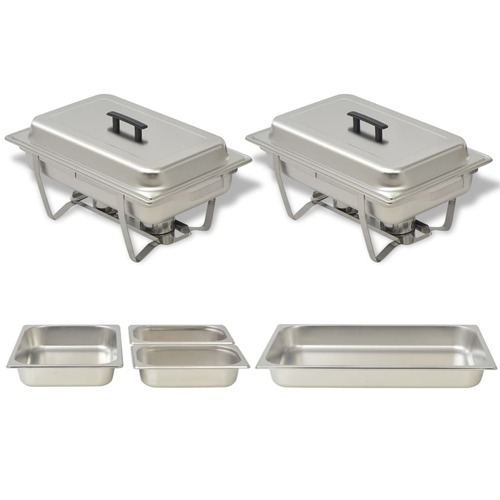 2 Piece Chafing Dish Set Stainless Steel