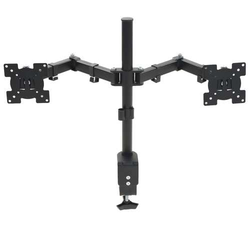 "Monitor Desk Mount 32"" Double Arms Height Adjustable"