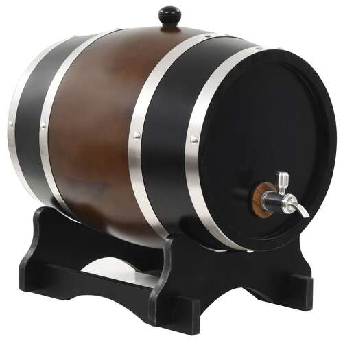 Wine Barrel with Tap Solid Pinewood 12 L