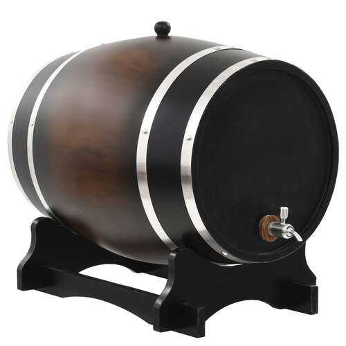 Wine Barrel with Tap Solid Pinewood 35 L