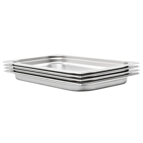 Gastronorm Containers 4 pcs GN 1/1 40 mm Stainless Steel
