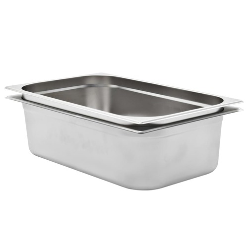 Gastronorm Containers 2 pcs GN 1/1 150 mm Stainless Steel