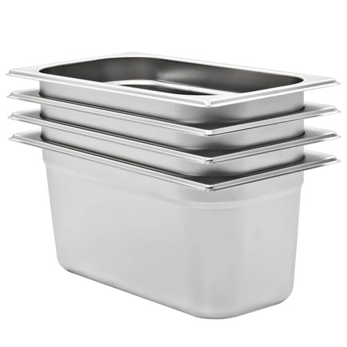 Gastronorm Containers 4 pcs GN 1/3 150 mm Stainless Steel