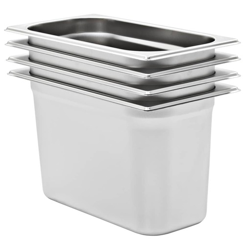 Gastronorm Containers 4 pcs GN 1/3 200 mm Stainless Steel