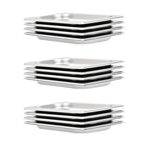 Gastronorm Containers 12 pcs GN 1/4 20 mm Stainless Steel