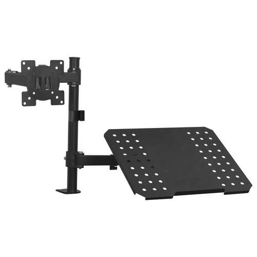 "Monitor Laptop Dual Desk Mount Bracket 13""-23"""