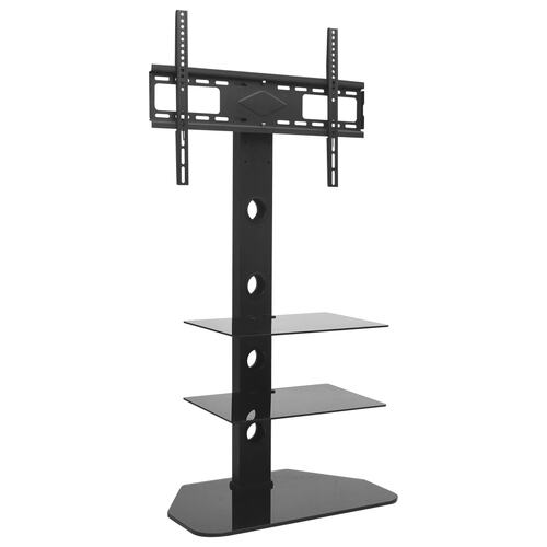 "Swivel TV Floor Stand Mount 32""-70"" with 2 Shelves"