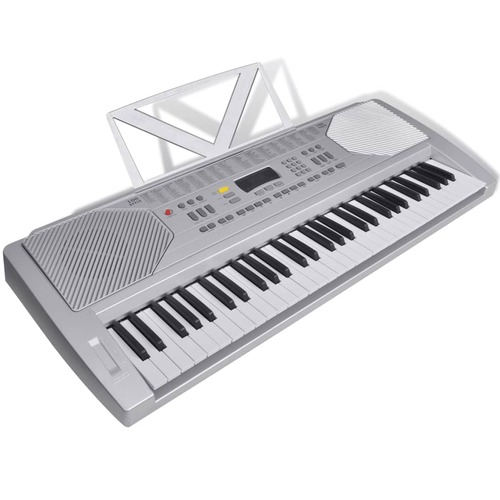 61 Piano-key Electric Keyboard with Music Stand