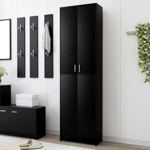 Hallway Wardrobe Black 55x25x189 cm Chipboard