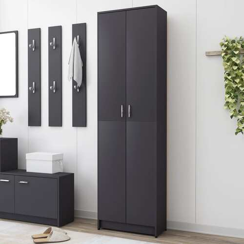 Hallway Wardrobe Grey 55x25x189 cm Chipboard
