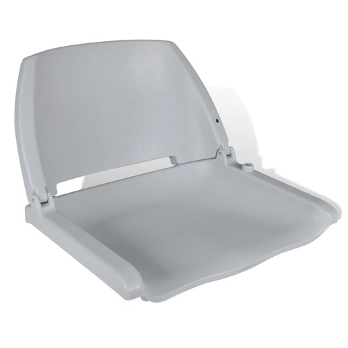 Boat Seat Foldable Backrest No Pillow Grey 41 x 51 x 48 cm