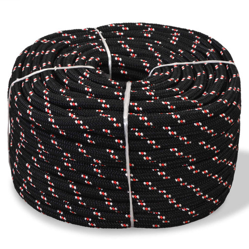 Marine Rope Polypropylene 8 mm 100 m Black