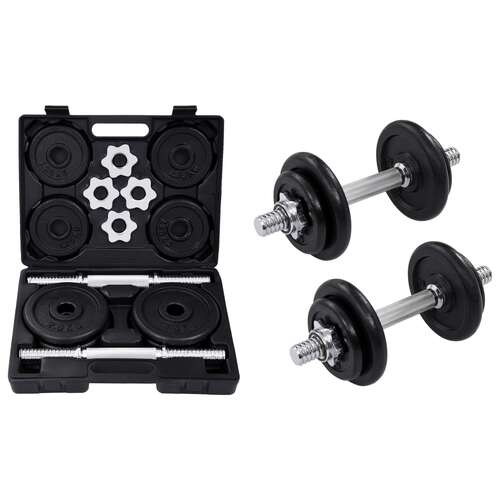 15 Piece Dumbbell set 20 kg Cast Iron