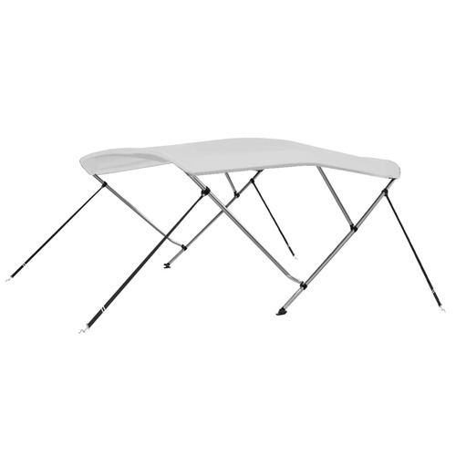 3 Bow Bimini Top White 183x140x140 cm